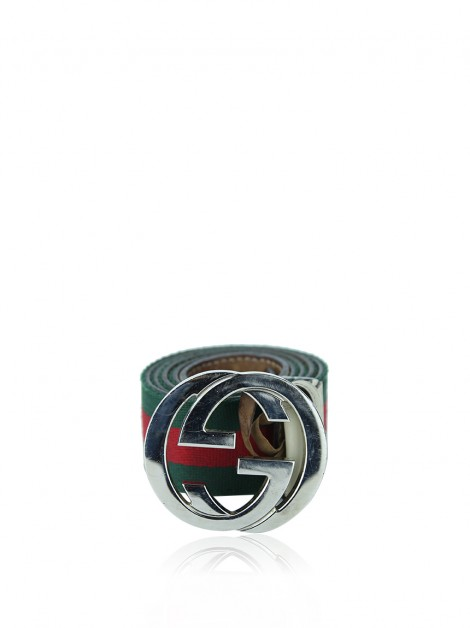 Cinto Gucci Interlocking G Web