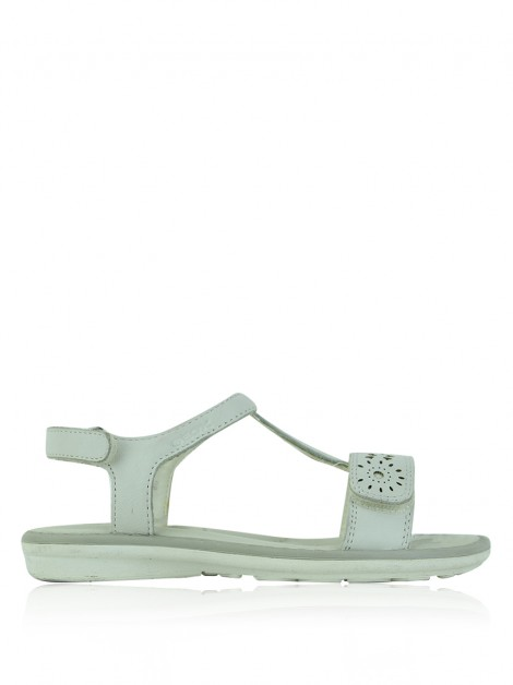 Rasteira Geox Cut-Out Off White Infantil
