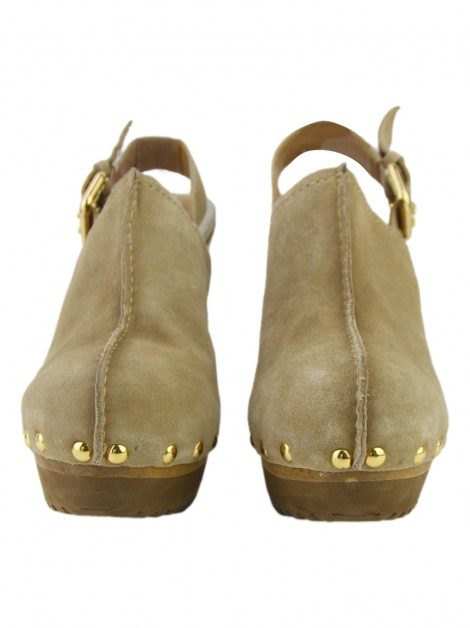 Sapato Michael Kors Beatrice Clogs Bege