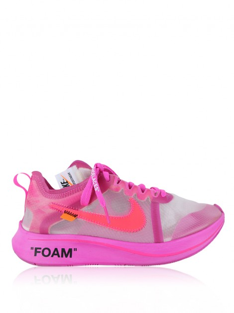 Tênis Nike x Off White Zoom Fly Racer Rosa