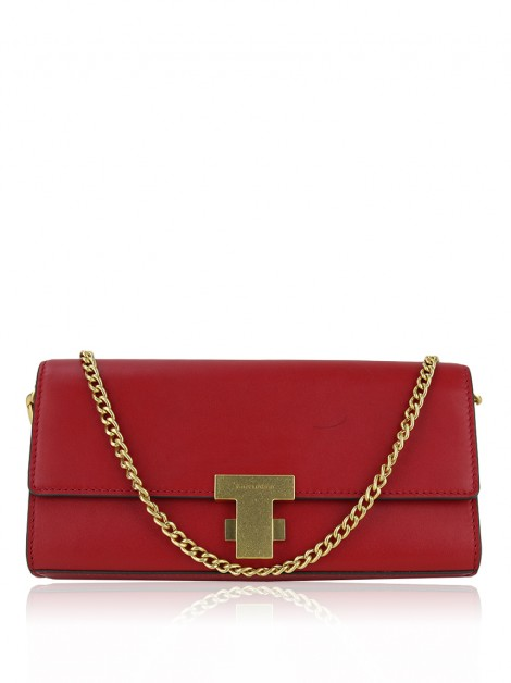 Bolsa Tory Burch Juliette Ruby Red Couro