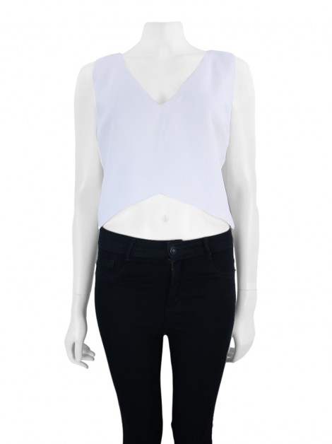 Blusa A. Brand Cropped Off White