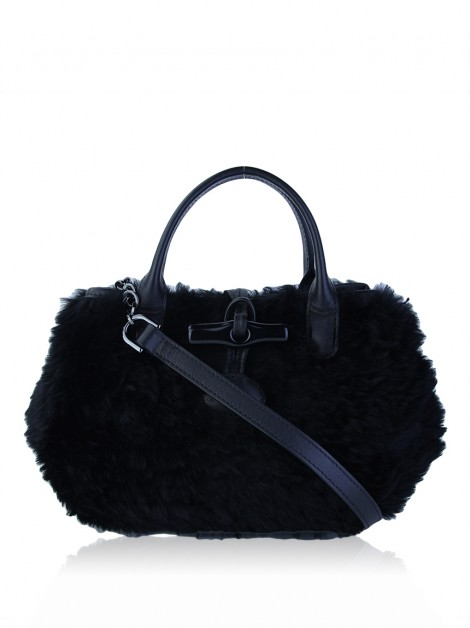 Bolsa Longchamp Roseau Panthere Mini Shearling