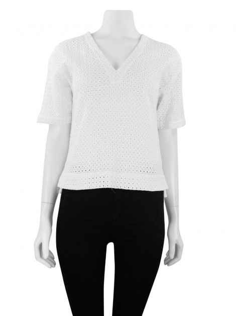 Blusa Theory Laise Off White