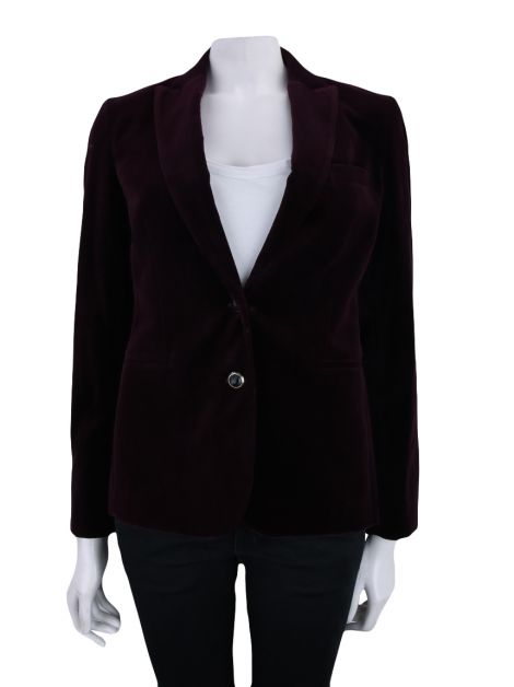 Blazer Brooksfield Donna Veludo Bordô