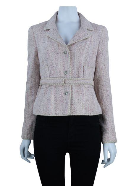 Blazer Chanel Tweed Rosa