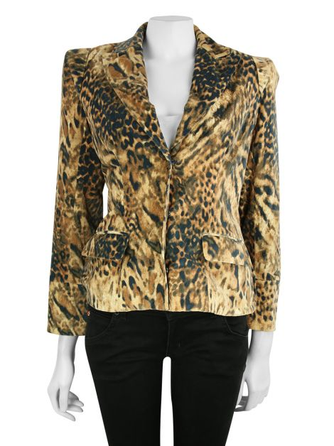 Blazer Mixed Animal Print