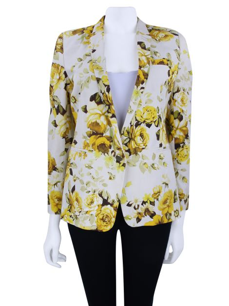 Blazer The Kooples Floral Amarelo