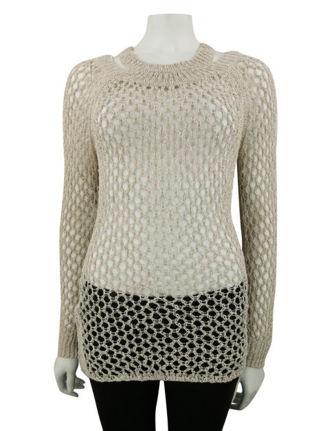 Blusa All Saints Spitafields Tricô Bege