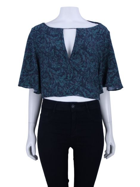 Blusa Animale Cropped Estampado