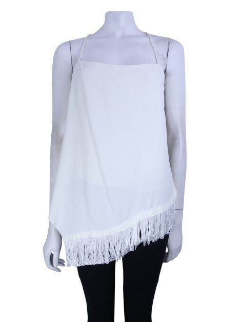 Blusa Animale Off White Assimétrica