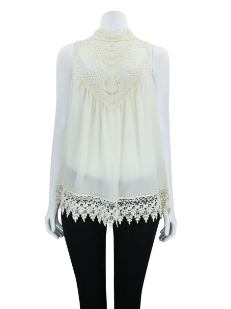 Blusa Animale Seda Off White