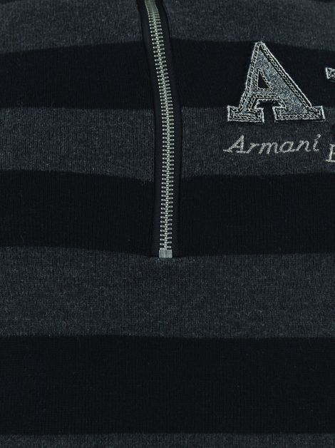 Blusa Armani Exchange Knit Alongado Listrado