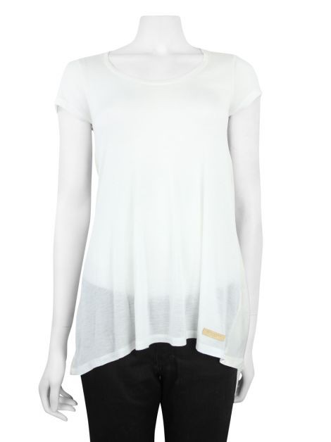 Blusa Burberry Brit Alongada Off White
