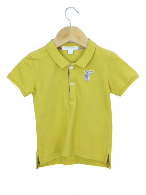 Blusa Burberry Children Polo Amarela Toddler  Infantil