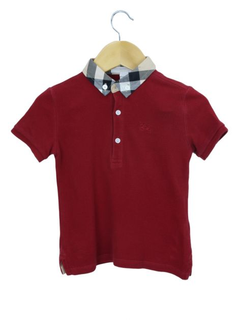 Blusa Burberry Children Polo Vinho Toddler Infantil