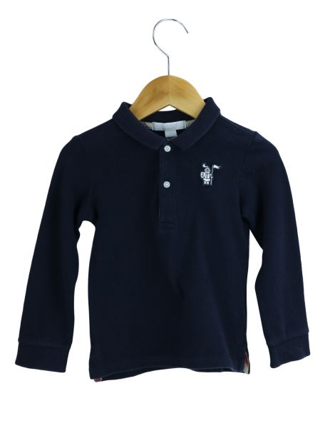 Blusa Burberry Polo Azul Toddler