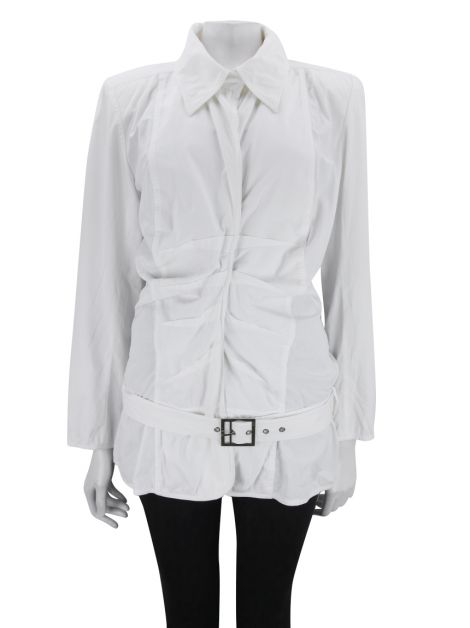 Blusa Christian Dior Boutique Tecido Off-White