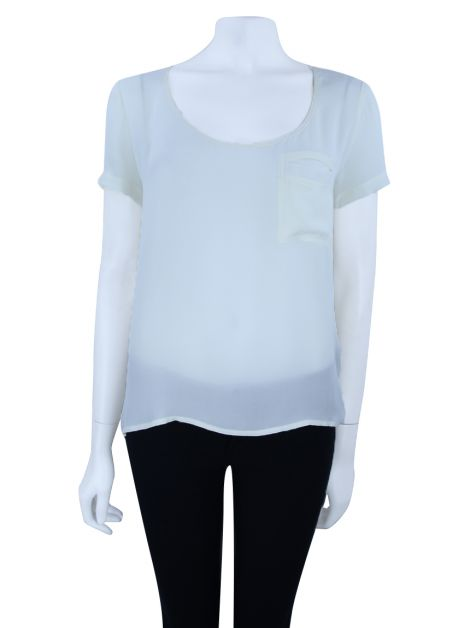 Blusa Cris Barros Seda Off White