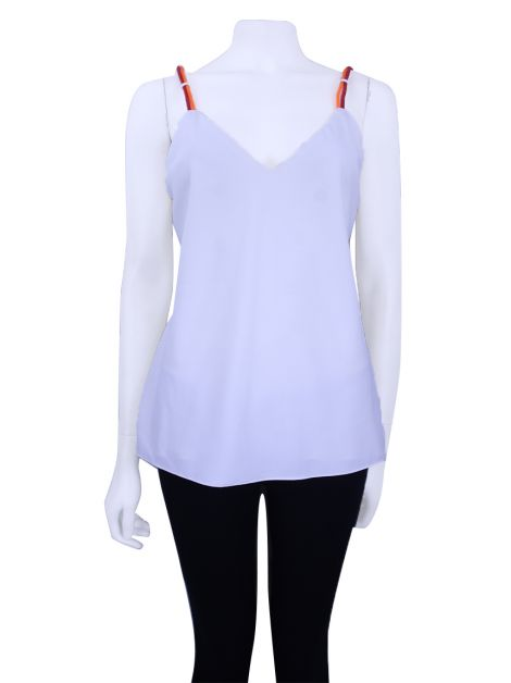 Blusa Cris Barros Tiras Off White