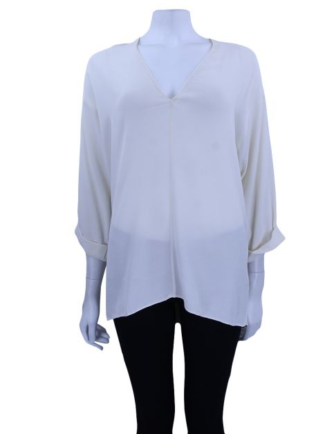 Blusa Cris Barros Viscose Off White