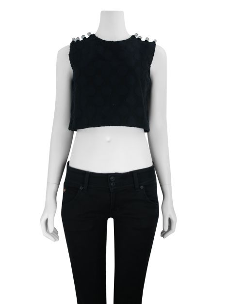 Blusa Cruise Norman Cropped Bicolor