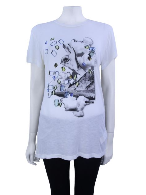 Blusa Diesel Estampada Off-White
