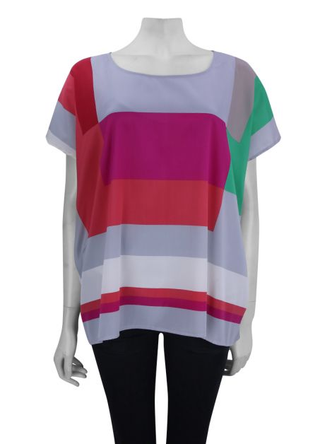 Blusa DKNY Ampla Colorida