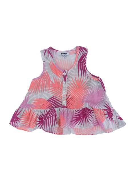 Blusa DKNY Viscose Estampado Toddler