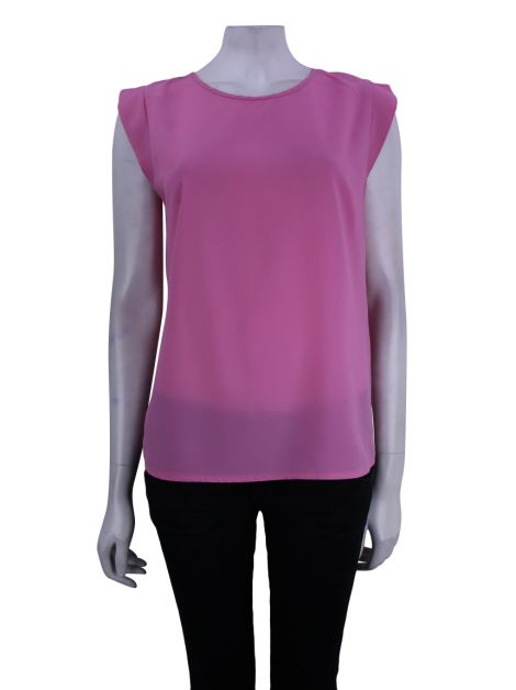 Blusa French Connection Tecido Rosa