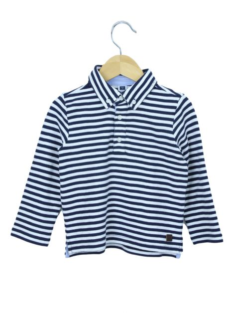 Blusa Janie and Jack Listras Bicolor Toddler Infantil