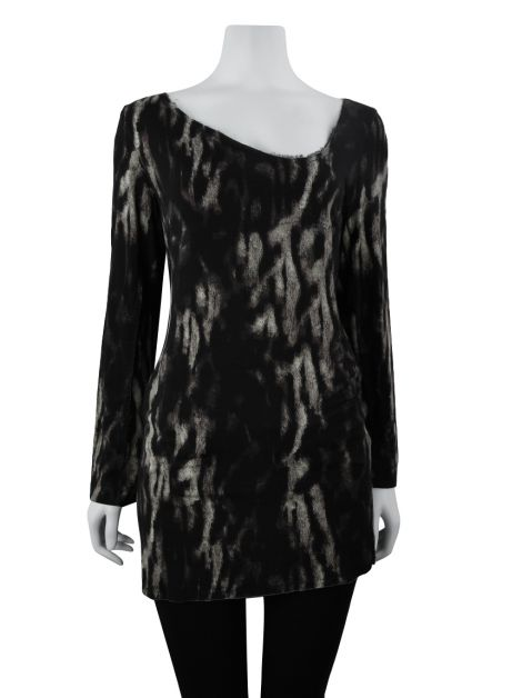 Blusa Just Cavalli Alongada Malha Animal Print