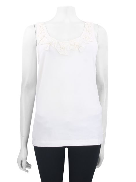 Blusa Kate Spade Flores Regatas Off-White