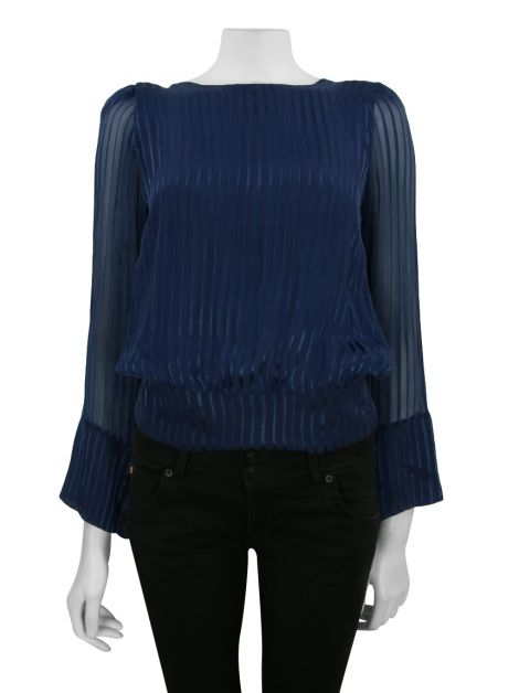 Blusa Lilly Sarti Cross Back Azul