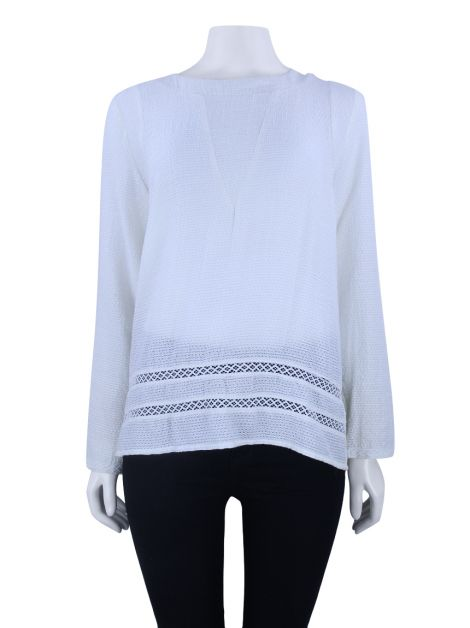 Blusa Lilly Sarti Textura Off White