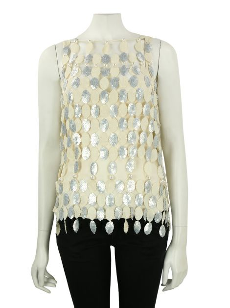 Blusa Marc Jacobs Regata Creme