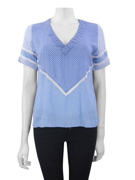 Blusa Missinclof Renda Estampada