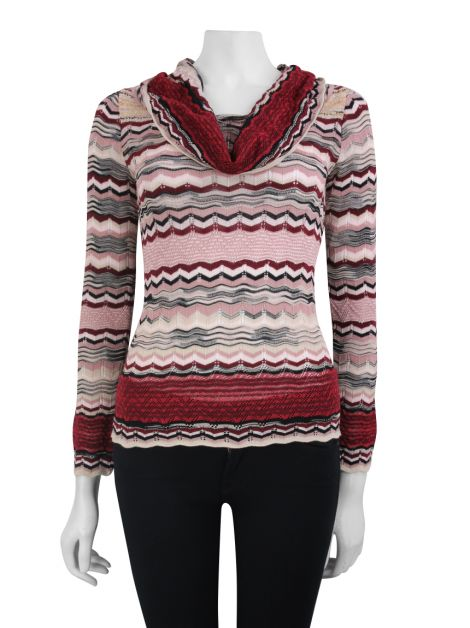 Blusa M Missoni Tricô Colorida
