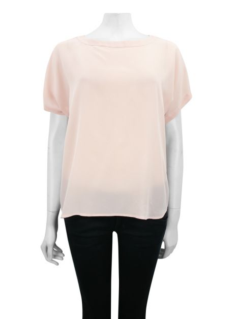 Blusa Mixed Crepe Rosa