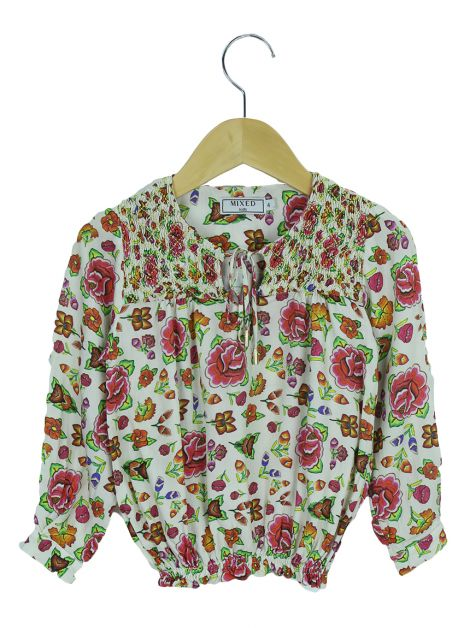 Blusa MIxed Floral Creme Toddler