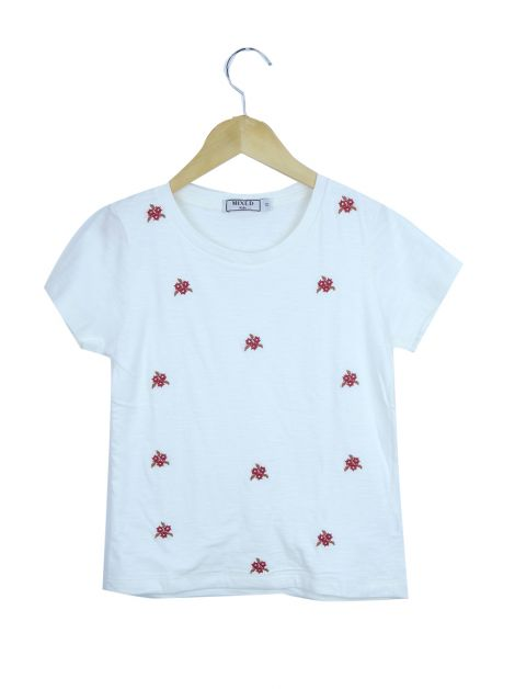 Blusa Mixed Kids Off White Bordada