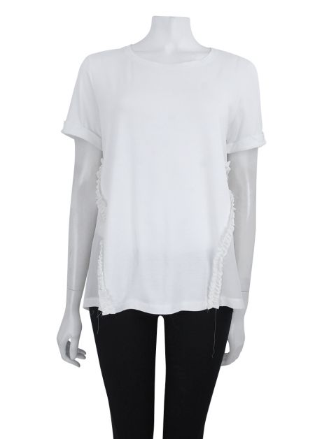 Blusa Mixed Off White Seda Lateral