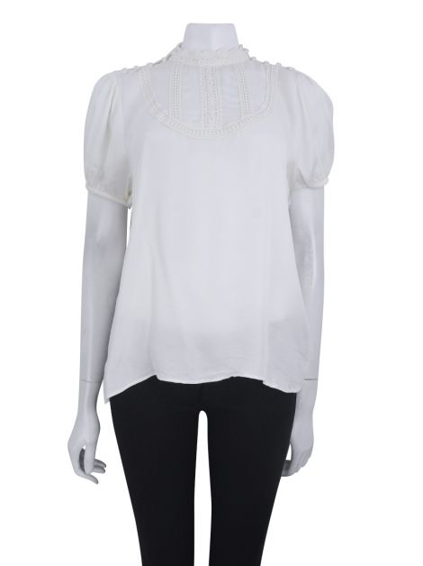 Blusa Mixed Renda Creme