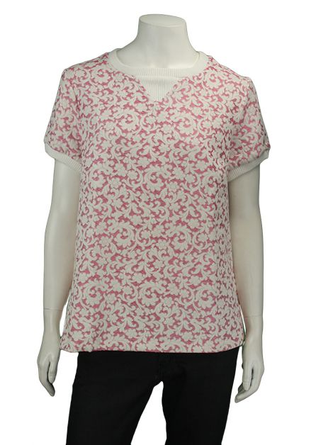 Blusa Mixed Rosa Brocado