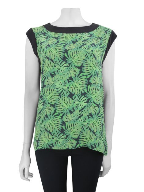 Blusa Mixed Seda Estampada
