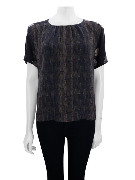 Blusa Mixed Seda Estampado