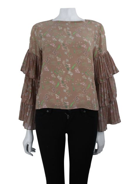 Blusa Mixed Seda Rose Flores
