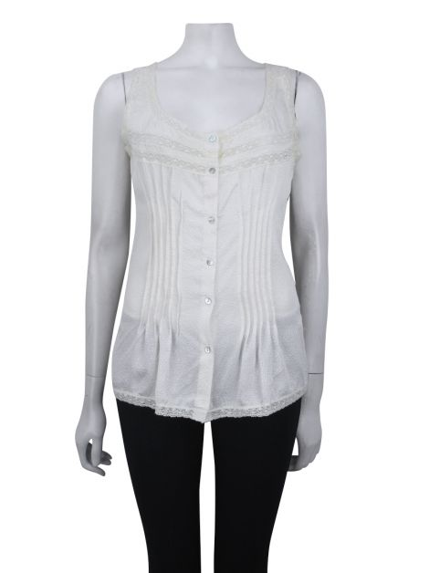 Blusa Mixed Texturizada Off-White