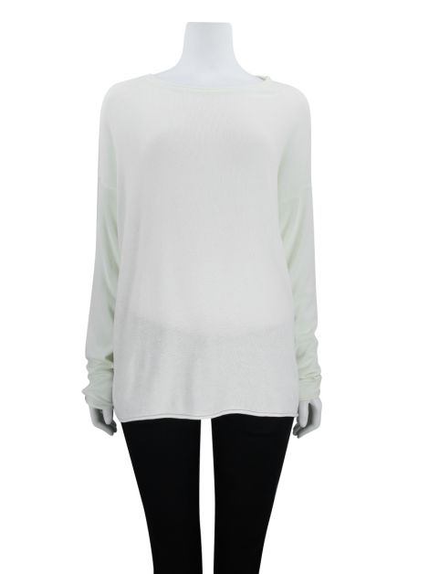 Blusa Mixed Tricô Off white