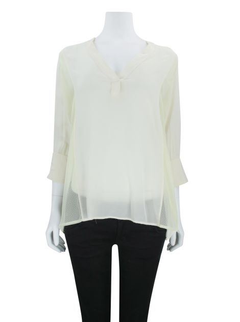 Blusa Mixed Tule Off White